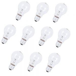 LHG 10er Set E27 Glühlampe 150W klar