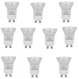 LHG 10er Set Leuchtmittel GU11 35W 230V  warm weiß