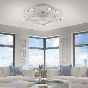 10-flammige LED-Deckenleuchte Nelia, Farbe wählbar