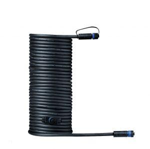 10m Plug & Shine Kabel IP68  Schwarz mit zwei Anschlussbuchsen