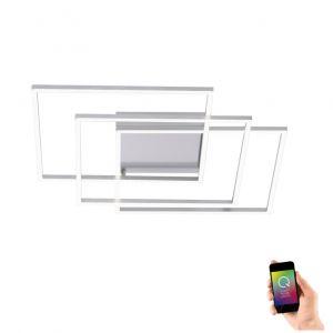 3x 19W LED Deckenleuchte Q®-Inigo, 95 x 95 cm 3x 19 Watt, 95,00 cm, 95,00 cm