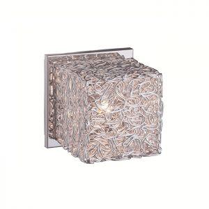 1-flammige Wandleuchte aus Drahtgeflecht 1x 33 Watt, 12,00 cm