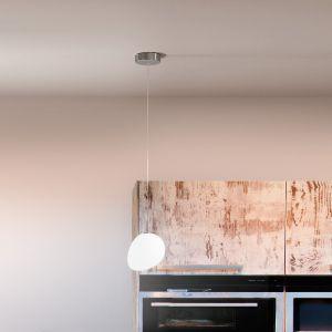 1-flg. LED-Pendelleuchte Evo mit weißem Glas - dimmbar