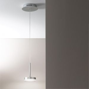 1-flg. LED-Pendelleuchte, Aluminium, Acrylglas weiß,
