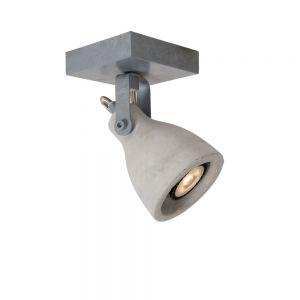 1-flg. LED-Strahler Concri von Lucide in betongrau