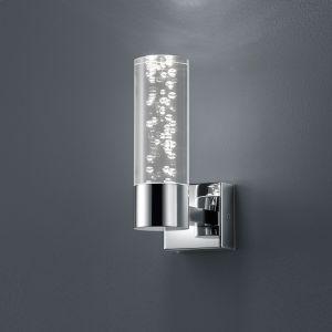 1-flg. LED-Wandleuchte Bubbles, Acrylglas mit Blasendekor