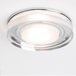230V Badezimmer-Einbaustrahler IP65, aus Klarglas - rund