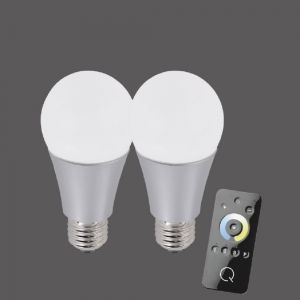 2er Set  A60 E27 LED-Leuchtmittel 8,5W CCT-Lichtmanagement