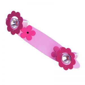 2-flammige Lichtleiste mit zarten rosafarbenen Blüten