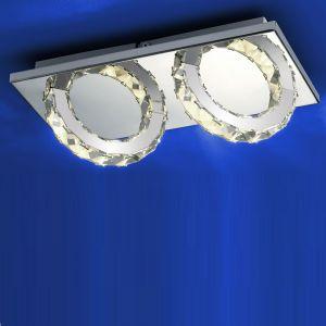 2fl. LED-Deckenleuchte Cascade, 14 x 28 cm von  B-Leuchten
