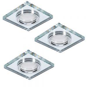 LHG 3er Deckeneinbauleuchte LED-Hintergrundbeleuchtung eckig