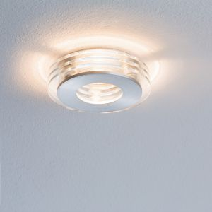 3er Set LED-Einbaustrahler Alu / Glas, LED je 3,5W, rund