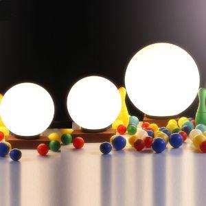LHG 3er-Set Kugelleuchten 2x 25 cm und 1x 40 cm, mit 6W LED