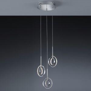 3-flg LED-Pendelleuchte Prater Chrom - 3x 4 Watt LED