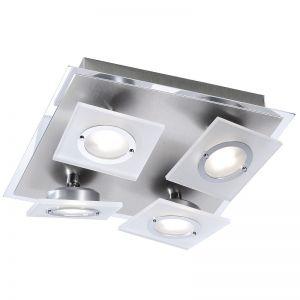 4-flg LED-Deckenleuchte 27 x 27 cm - LED-Module 4x 3,3W