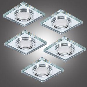LHG 5er Deckeneinbauleuchte LED-Hintergrundbeleuchtung eckig