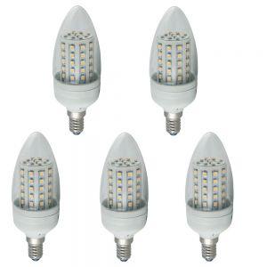 LHG 5er Set LED Leuchtmittel Kerze 3 Watt  klar 240lm