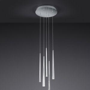 5-flg LED-Pendelleuchte, Rondell Lucid