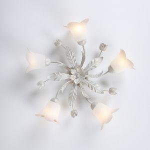 LHG 5-flg. Deckenleuchte im Florentiner Stil - Antik - Weiß