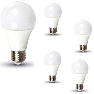 5-er Set A60 LED-Leuchtmittel E27 10W, 806lm, 2700K, nicht dimmbar