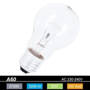 A60 AGL 200W klar E27 230V