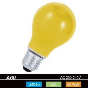 A60 AGL 60 W  E27 Classic A  in Gelb 1x 60 Watt, gelb, 240,0 Lumen