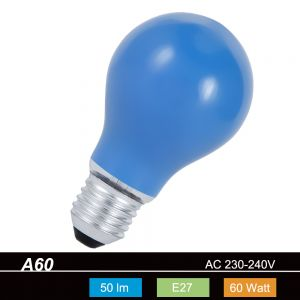 A60 AGL 60 W  E27 Classic A  in Blau 1x 60 Watt, blau, 50,0 Lumen