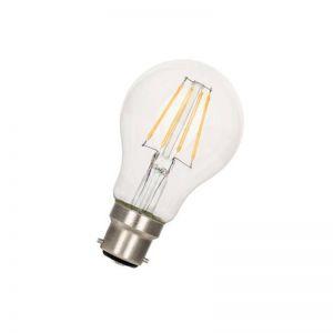 A60 B22 LED-Leuchtmittel klar, verschiedene Lichtstärken