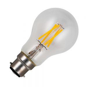 A60 B22 LED-Leuchtmittel klar, versch. Lichtstärken, dimmbar