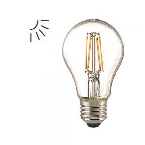 A60 LED Filament mit Tageslicht-Sensor  E27 6,5W  806lm