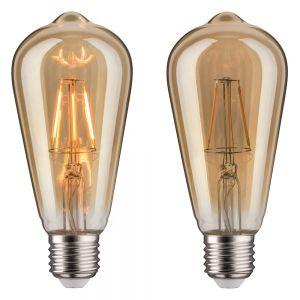 A65 LED Rustika 4W E27 230V Gold 1700K Vielfachwendel