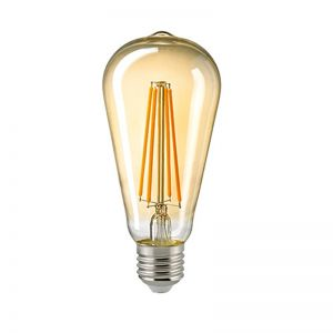 A65 LED Rustikalampe Filament Gold E27 2400K dimmbar 7 Watt