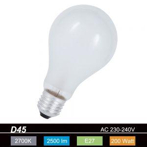 A80  Leuchtmittel 200W matt  E27 stoßfest