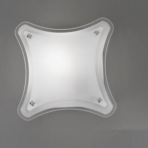 Attraktive Deckenleuchte mit teilsatiniertem Glas 30 x 30 cm