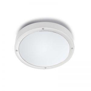 Außendeckenleuchte Basic rund 26cm, weiß, IP65