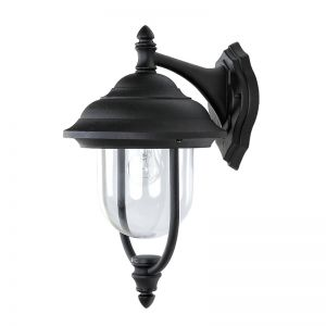 LHG Außenwandleuchte in  Schwarz , klassische Form 1x 60 Watt, schwarz, 420,00 cm, 24,80 cm