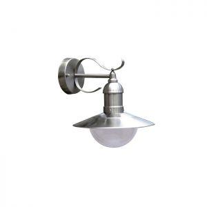 Außenwandleuchte mit rostfreiem Stahl, IP44 stahlfarbig
