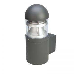Außenwandleuchte in Schwarz mit dekorativem Metalleinsatz IP44
