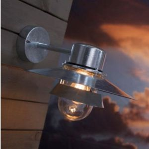 Außenwandleuchte Stahl verzinkt hängend,  IP44