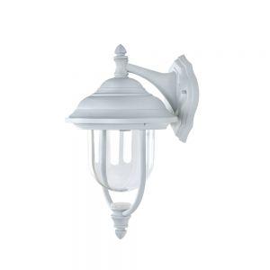 LHG Außenwandleuchte in Weiß, klassische Form 1x 60 Watt, weiß, 41,50 cm, 24,50 cm