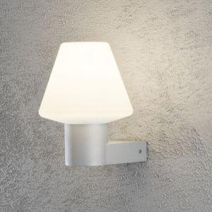 Außenwandleuchte, Aluminium, Silbergrau, Acrylglas, 24,5 cm hoch
