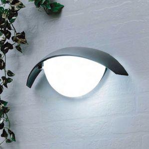Außenwandleuchte, aus Aluminium mit Acrylglas
