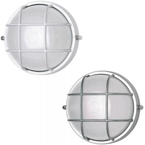 Außenwandleuchte, Deckenleuchte, rund, D=24 cm, LED geeignet, 2 Farben