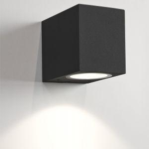 Außenwandleuchte, schwarz, eckig, 1-flammig, Downlight, dimmfähig