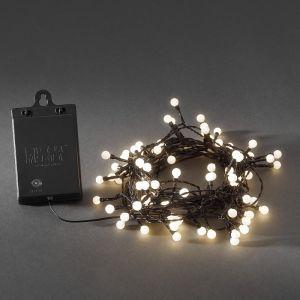 Außen LED-Globelichterkette 80 Dioden, Lichtsensor und Timer, Weiß