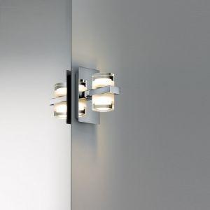 Badezimmer LED-Wandleuchte 2x3,5W, Chrom, Weiß