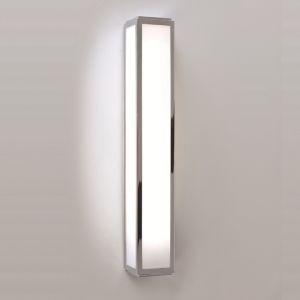 LHG Badezimmer Wandleuchte in Chrom - Opalglas - 50 cm Länge - inklusive Leuchtmittel