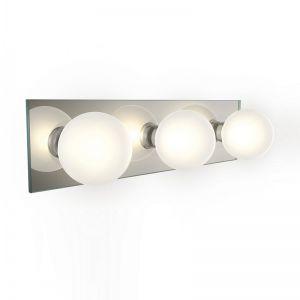 Badezimmerleuchte aus Spiegel- und Opalglas IP44 inklusive 3x 28W G9