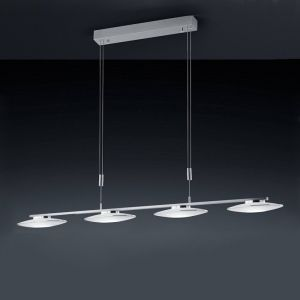 Bankamp  4 flg LED-Pendelleuchte Nickel-matt Chrom