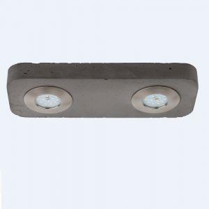 Beton  LED Deckenstrahler Cool, 2 x LED 5W